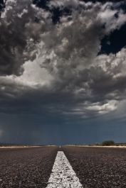 Storm At The End Of The Desert Road